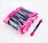 50PCS/BAG Packaging X Pink & Black Disposable Double-Ended Eye Shadow Applicator Sponges