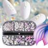 Opal Mermaid Tears Clear Glass Flatback Nail Art Rhinestones (SS3-SS20) 486PCS/BOX