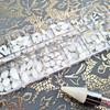 120PCS WHITE OPAL BLING BOX of Fancy Shapes Glass Flatback Rhinestones for Nail Art + Optional 50% Off Crystal Pick-Up Wax Pen