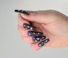 NEW Full Nail Cover Coffin Press On Soft Gel Nail Tips - BLACK JELLY (Bag of 520PCS)