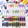 24PCS Moxie Coloured Line Gels