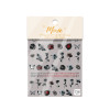 Moxie Ultra Thin Flexible Nail Art Stickers - Black Rose