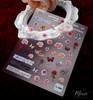 Moxie Ultra Thin Flexible Nail Art Stickers - Roses & Butterflies