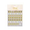 Moxie Ultra Thin Flexible Nail Art Stickers - Gold Antique Love Notes
