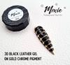 Moxie 3D Coloured Leather Nail Gel 5ml - BLACK