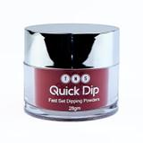 TNS Quick Dip Fast Setting Coloured Powder 28gm - Burgundy Red (Shimmer) QD014