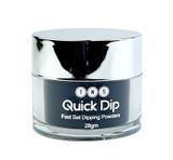 TNS Quick Dip Fast Setting Coloured Powder 28gm - Black QD027