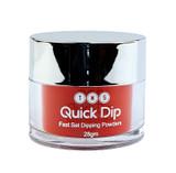 TNS Quick Dip Fast Setting Coloured Powder 28gm - Deep Red Shimmer QD031