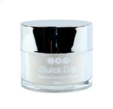 TNS Quick Dip Fast Setting Coloured Powder 28gm - Frosted White Shimmer QD032