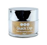 TNS Quick Dip Fast Setting Coloured Powder 28gm - Gold Glitter QD033