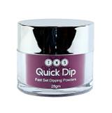 TNS Quick Dip Fast Setting Coloured Powder 28gm - Dark Burgundy Shimmer QD038