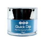 TNS Quick Dip Fast Setting Coloured Powder 28gm -  Teal Blue Shimmer QD039