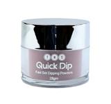 TNS Quick Dip Fast Setting Coloured Powder 28gm -  Ash Grey Shimmer QD040