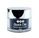 TNS Quick Dip Fast Setting Coloured Powder 28gm - Black Shimmer QD042