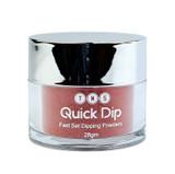 TNS Quick Dip Fast Setting Coloured Powder 28gm - Red Glitter QD043