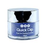 TNS Quick Dip Fast Setting Coloured Powder 28gm - Blue Glitter QD045