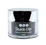 TNS Quick Dip Fast Setting Coloured Powder 28gm - Black (Gold Glitter) QD046
