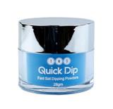 TNS Quick Dip Fast Setting Coloured Powder 28gm - Neon Blue QD052