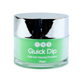 TNS Quick Dip Fast Setting Coloured Powder 28gm - Neon Green QD054