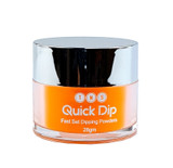 TNS Quick Dip Fast Setting Coloured Powder 28gm. Neon Orange QD055.