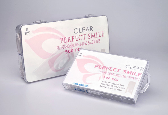 TNS Perfect Smile Clear Well-less Nail Tips (Box of 100PCS or 500PCS)