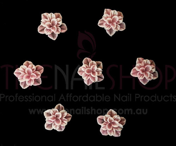 3D Flexible Flowers for Nail Art (20PCS) - Pink Petal Flower