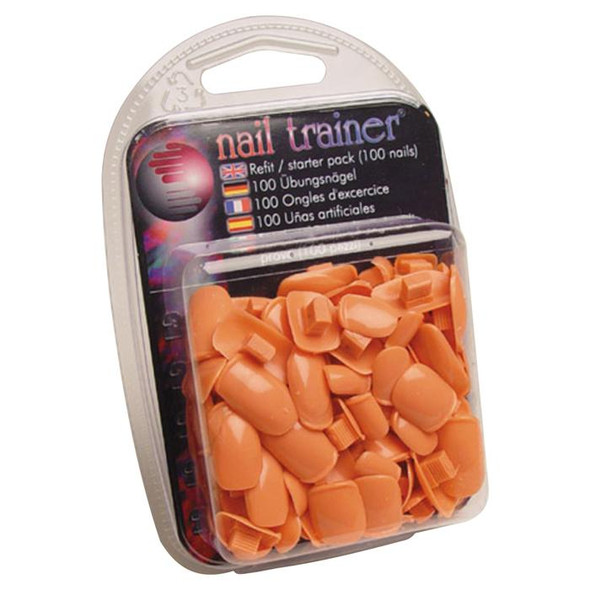 The Nail Trainer ® - Refit Pack Nail Beds (100 Replacement Tips in 5 Sizes)