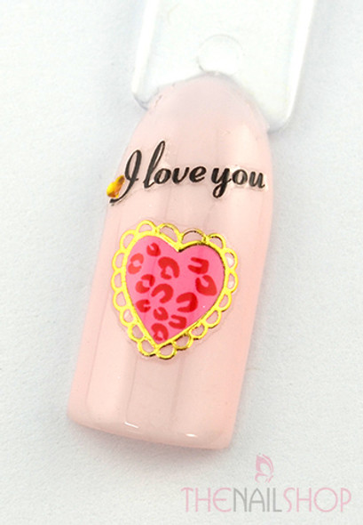 Example of Use - 'I Love You' Nail Stickers