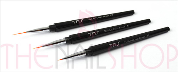 TNS Nail Art Liner Brush Set (Size #1, #2, & #3) - For Our Nail Artists!