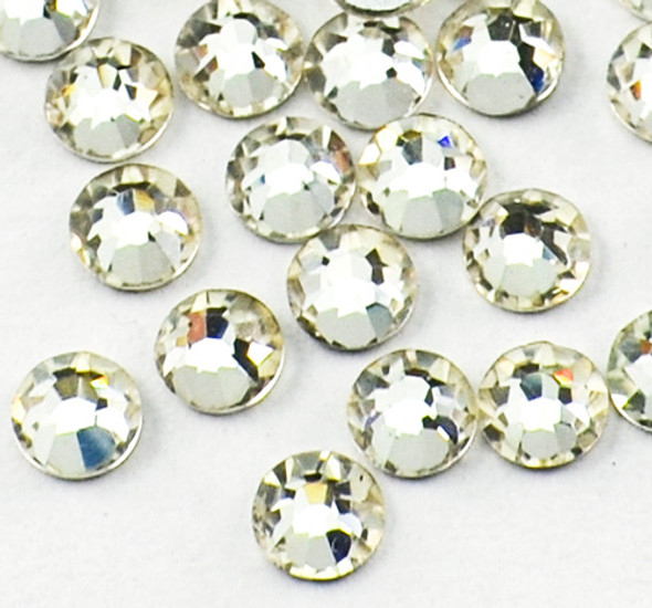 Clear Glass Crystals Flatback Nail Art Rhinestones (100PCS) - Available in 1.5mm, 2mm, 3mm, & 5mm