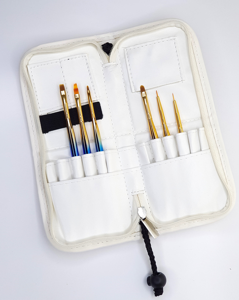 Nail Brush & Implement Wallet Stand (Available in Rainbow Pink & White)
