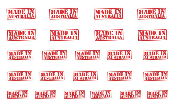 Made in Australia Stamp Nail Art Water Decals (24 Images Per Sheet)