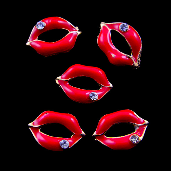 Red Lips Nail Art Charms