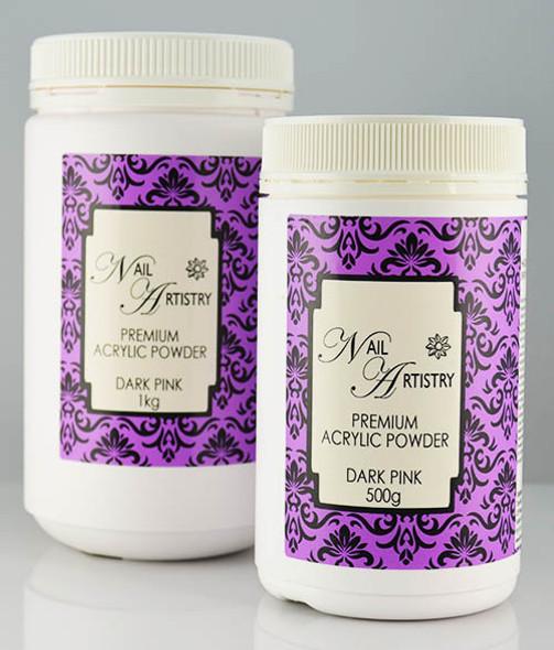 Nail Artistry Premium Acrylic Powder Dark Pink (500gm & 1000gm)
