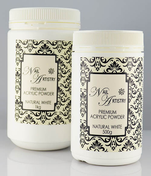 Nail Artistry Premium Acrylic Powder Natural White (500gm & 1000gm)