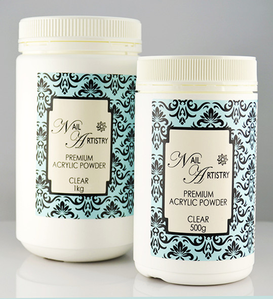 Bulk Nail Artistry Premium Acrylic Powder Clear (500gm & 1000gm)