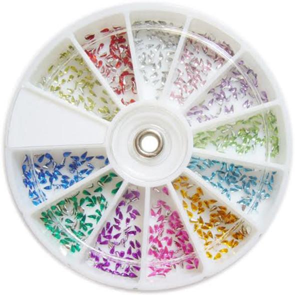 Coloured Teardrop Rhinestone Nail Art Wheel 2mm (720PCS)