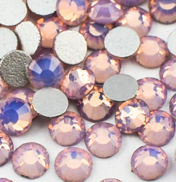Opal Pink Glass Crystals Flatback Nail Art Rhinestones (100PCS) - Available in 1.5mm, 2mm, & 3mm
