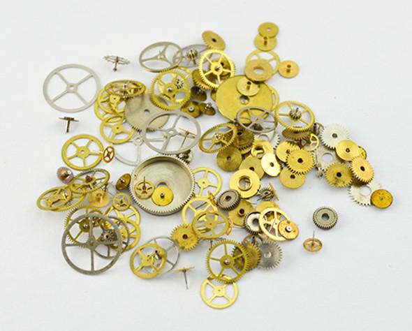 Steampunk Nail Art Metal Cogs Wheels Watch Parts
