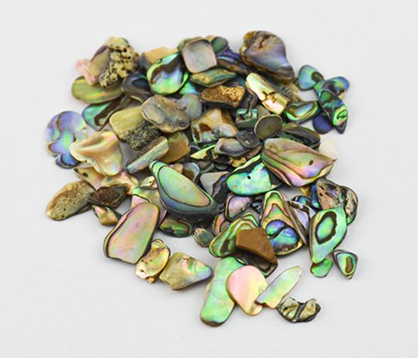 Extra Fine Tumbled Satin Paua Shell for Nail Art - 1 Bag