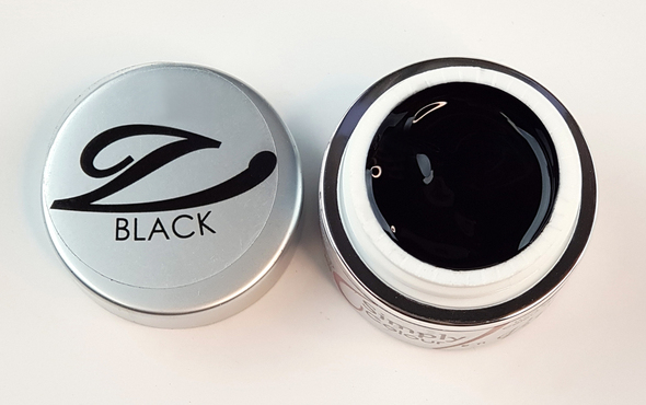 Simply Coloured UV/LED Nail Gel (Hard Gel) 5ml - Solid Black