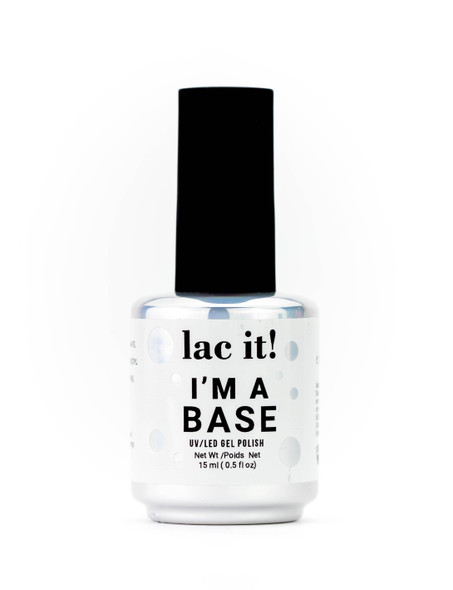 Lac It!™ Advanced Formula UV/LED Gel Polish - I'm A Base (15ml Bottle)