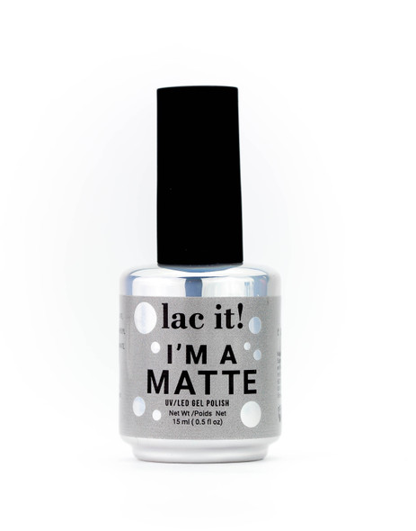 Lac It!™ Advanced Formula UV/LED Gel Polish - I'm A Matte Top Coat (15ml Bottle)