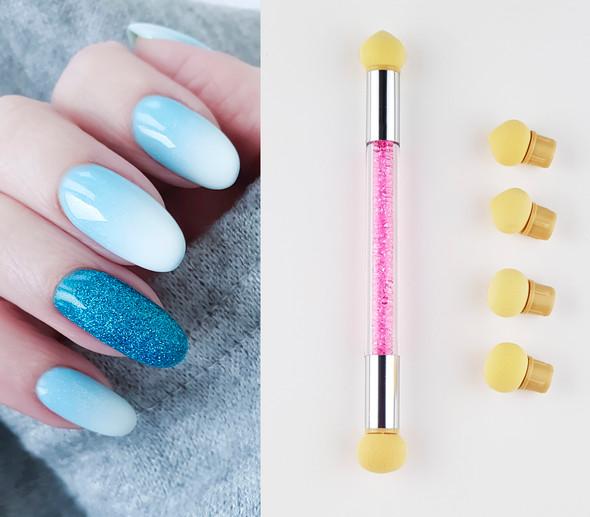 Dual-Head Nail Art Sponge Pen (Ombre Colour Shading Tool) - 6 Heads!