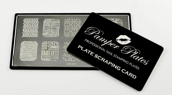 Free Pamper Plate Scraping Card for Stamping Plates
