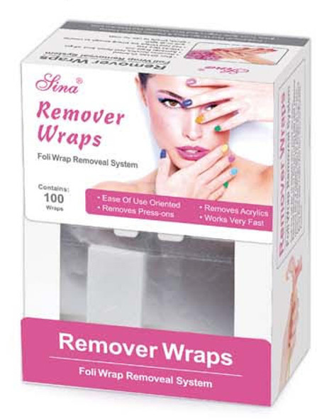 100PCS Foil Remover Wraps (Soak-Off Gel & Acrylic Nails)