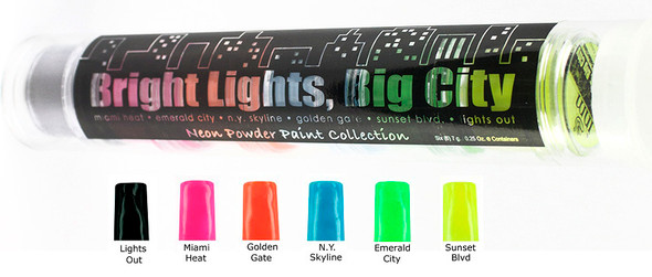 INM's Bright Lights, Big City Neon Colored Acrylic Powder Collection