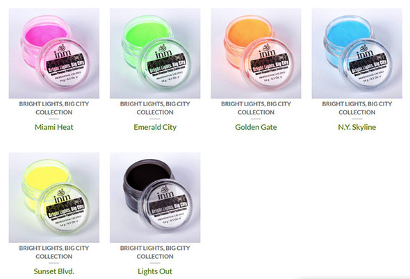 INM's Bright Lights, Big City Neon Colored Acrylic Collection.