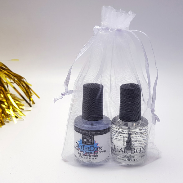 WHITE ORGANZA GIFT BAGS - EXAMPLE OF USE