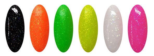 Out The Door Holographic Acrylic Powders (6 Pots) - Neon's At Nite!